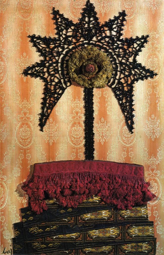 Femme habilleé, 1961. Tecnica mista su tela, 99 x 65 cm. Courtesy Archivio Baj.
