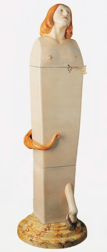 San SebastianSagittario, 1995. Ceramica di Faenza, 176 cm. Courtesy Galleria dello Scudo, Verona