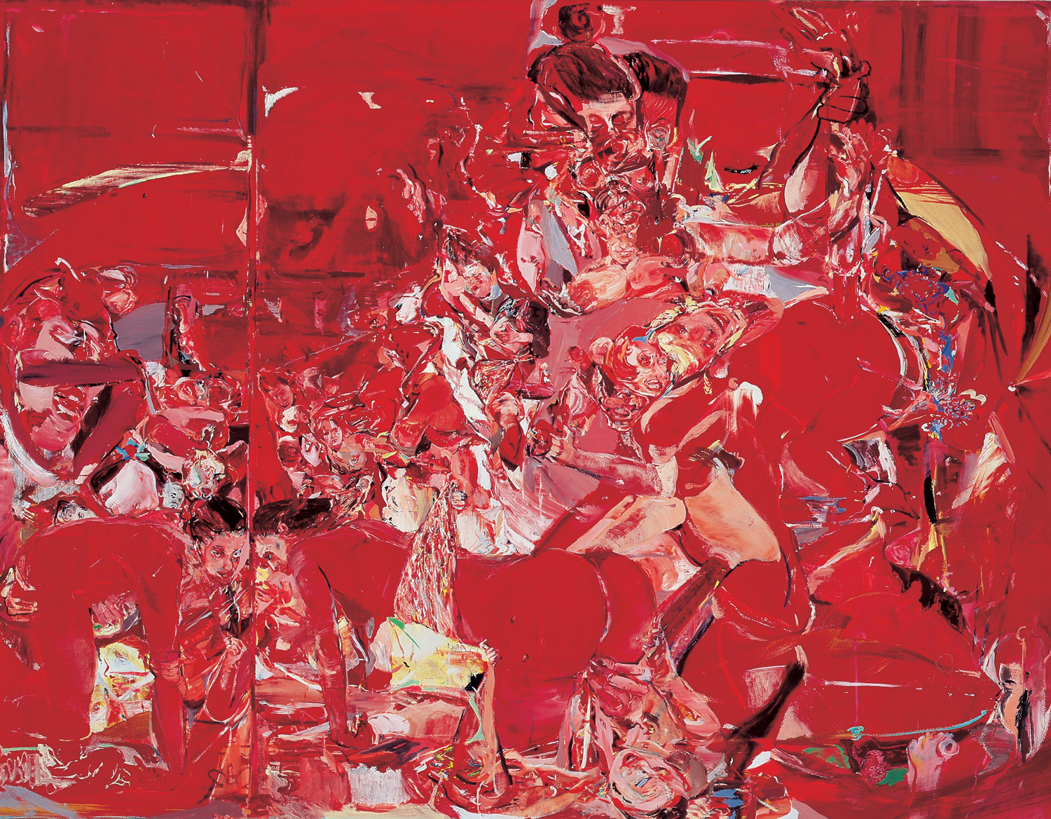 """Cecily Brown """"The Pyjama Game (work in progress)"""" (1998)."""