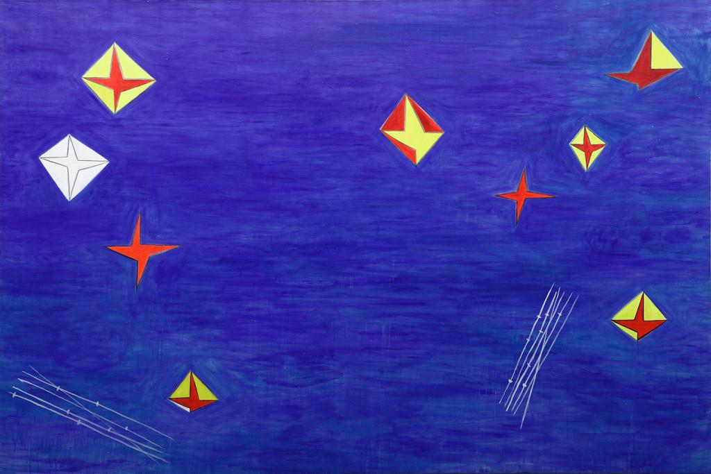 "Nicola De Maria, ""Testa Orfica II"" (1990). Courtesy Cortesi Gallery Londra / Lugano / Milano."