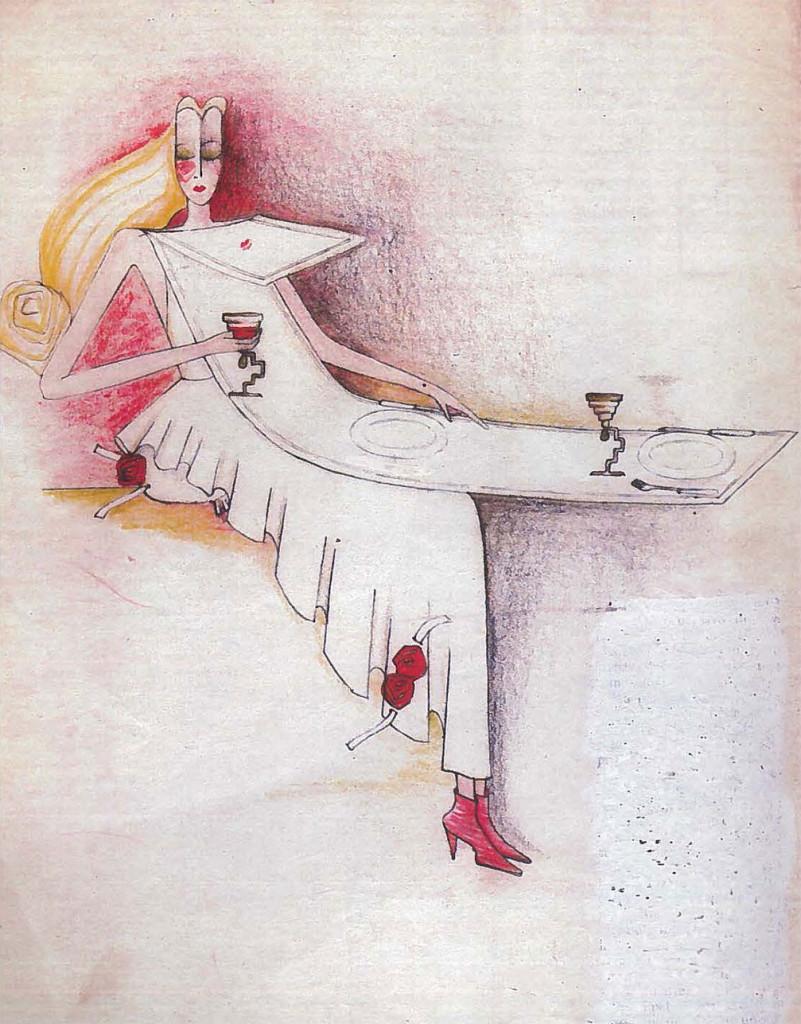 Abito Tovaglia (disegno, 1983).
