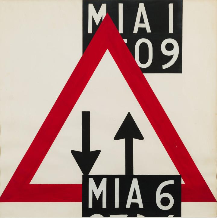 MIA6, 1967-68. Collage su carta. 59 × 59 cm.