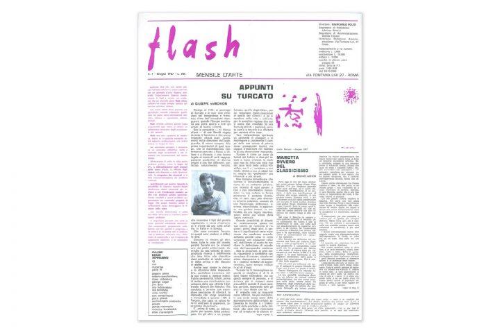 Una pagina di Flash Art di Giancarlo Politi